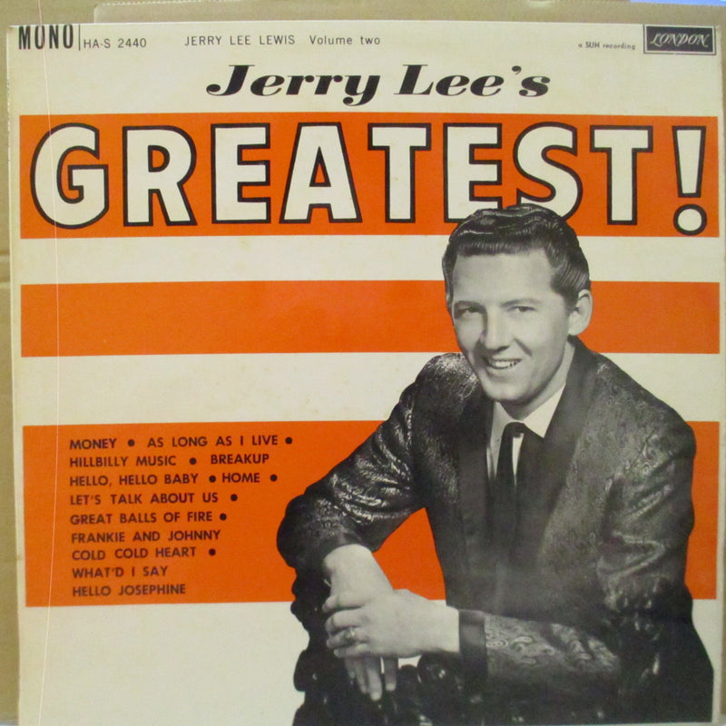 JERRY LEE LEWIS (ジェリー・リー・ルイス)  - Jerry Lee's Greatest (UK 70's Reissue Mono LP/CS)