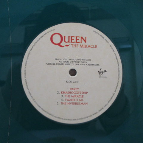 QUEEN - The Miracle (UK-EU '15 Ltd.Green Vinyl LP)