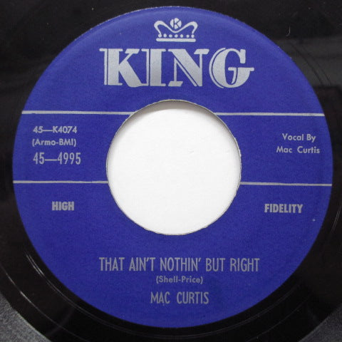 MAC CURTIS - That Ain't Nothin' But Right (Orig)