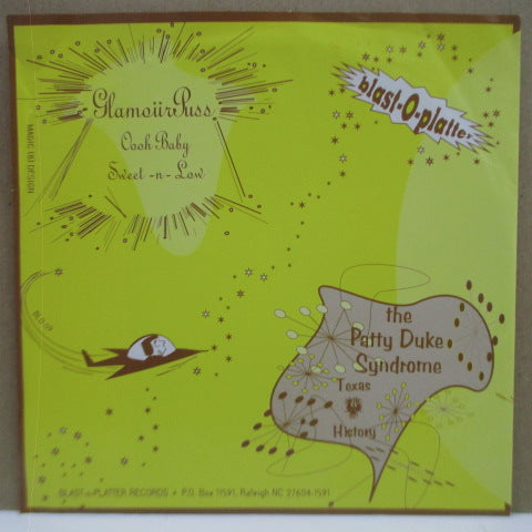 "PATTY DUKE SYNDROME, THE / GLAMOURPUSS - Split (US Orig.Yellow Vinyl 7"")"