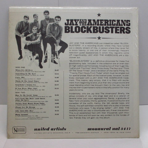 JAY & THE AMERICANS - Blockbusters (US:Orig.MONO)