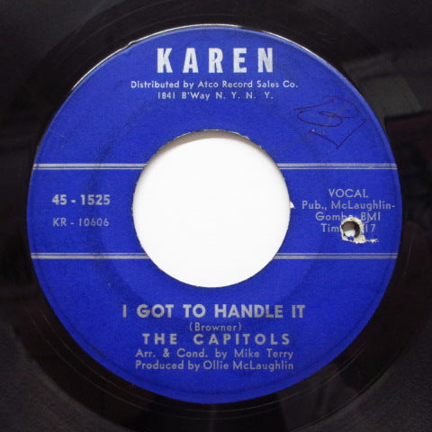 CAPITOLS - Zig-Zagging (Blue Paper Label)