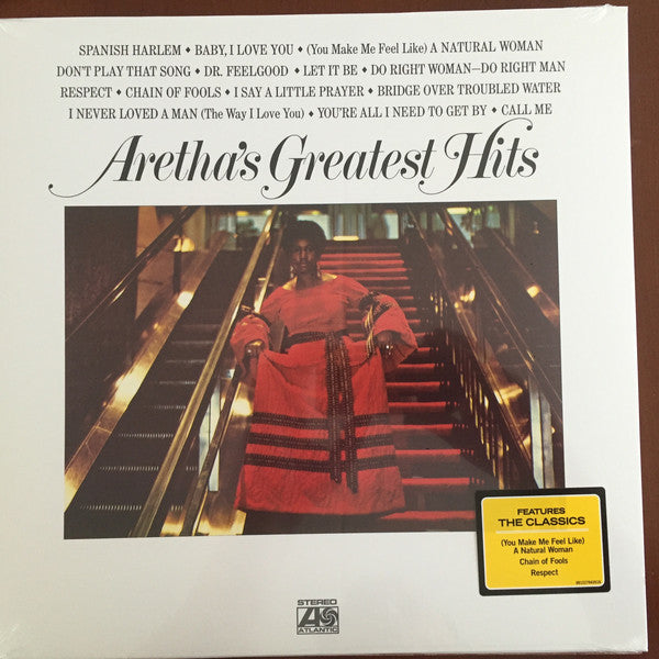 ARETHA FRANKLIN (アレサ・フランクリン)  - Aretha's Greatest Hits (EU Ltd.Reissue LP/New)