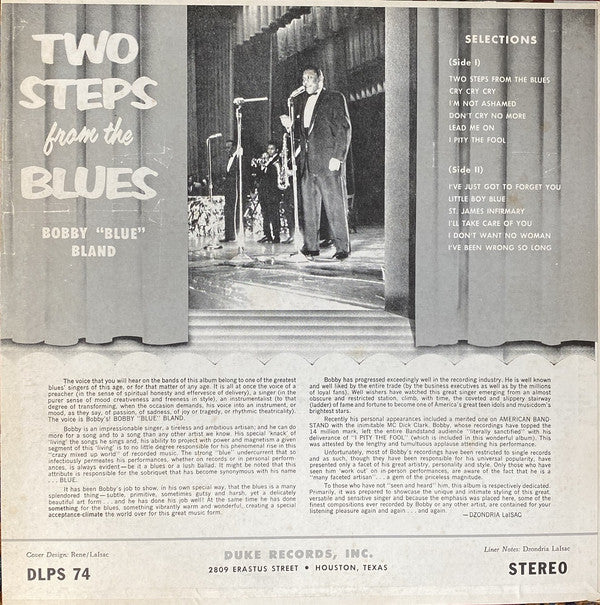 BOBBY BLAND (ボビー・ブランド)  - Two Steps From The Blues (US Ltd.Reissue LP/New)
