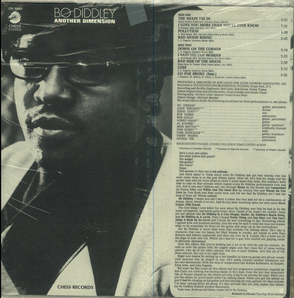 BO DIDDLEY (ボ・ディドリー)  - Another Dimension (US Ltd.Reissue LP/New)