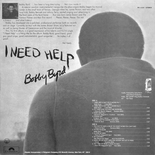 BOBBY BYRD (ボビー・バード)  - I Need Help : Live On Stage (US Ltd.Reissue LP/New)