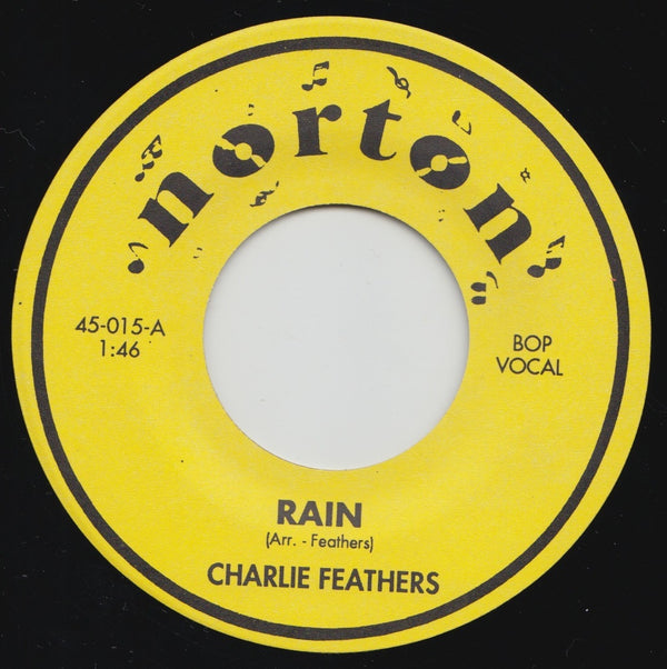"CHARLIE FEATHERS (チャーリー・フェザーズ)  - Rain / Way In The Night (US Ltd.7""/New)"