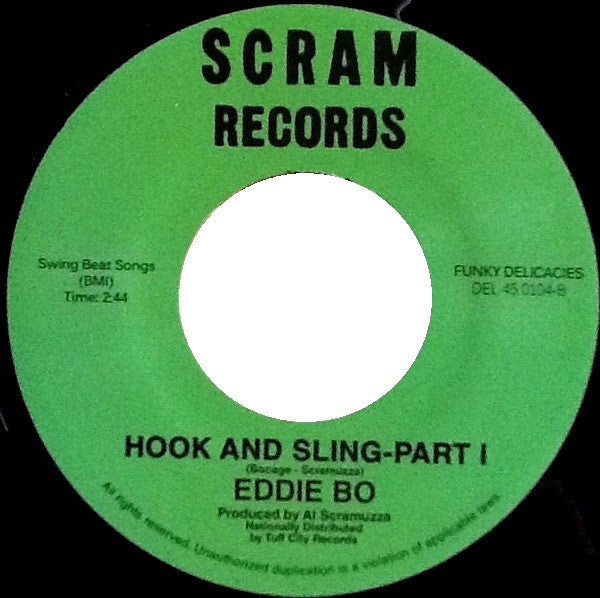 "EDDIE BO (エディ・ボー)  - Hook And Sling (Part 1 & 2) (US Ltd.Reissue 7""/New)"