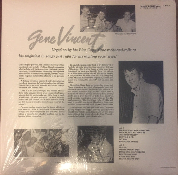 GENE VINCENT & HIS BLUE CAPS (ジーン・ヴィンセント)  - S.T. [2nd Album] (US Ltd.Reissue LP/New)