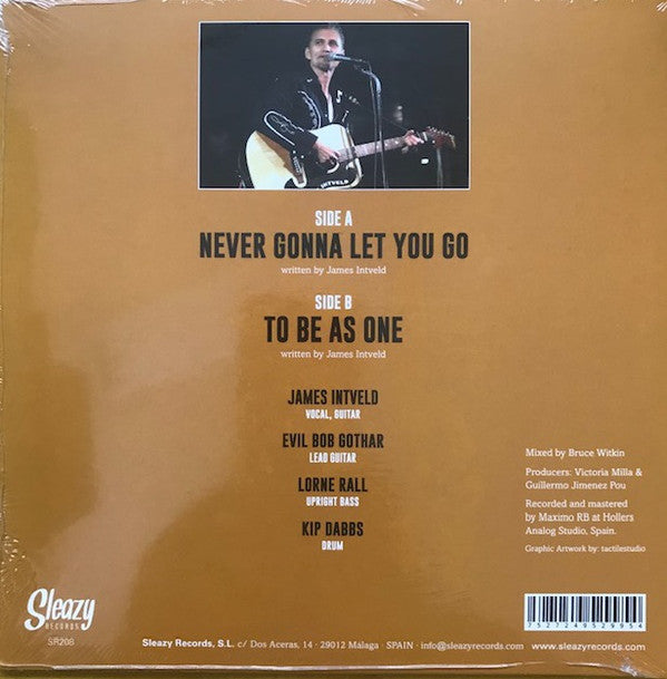 "JAMES INTVELD (ジェームス・イントベルド)  - Never Gonna Let You Go (Spain Ltd.7""/New)"