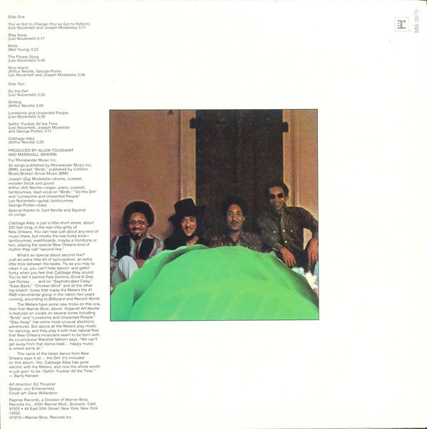 METERS (ミーターズ)  - Cabbage Alley (US Ltd.Reissue LP/New)