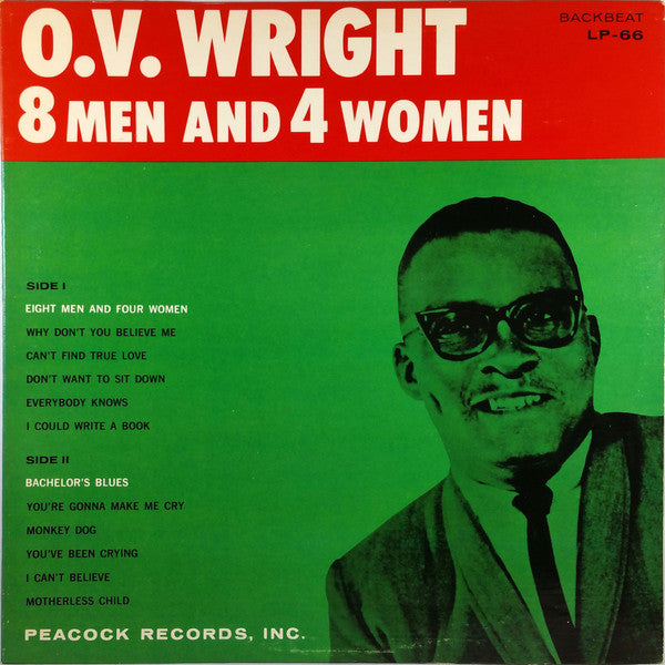 O.V. WRIGHT - 8 Men And 4 Women (US Ltd.Reissue LP)