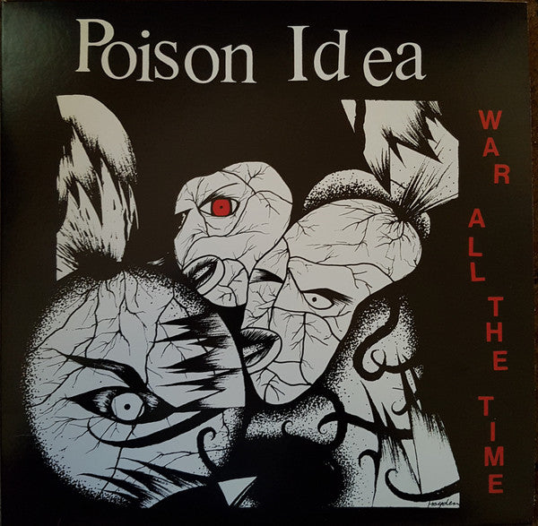 POISON IDEA (ポイズン・アイデア) - War All The Time (US Reissue Red Vinyl LP / New)