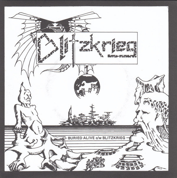 "BLITZKRIEG - Buried Alive / Blitzkrieg (Ltd.Gold Vinyl 7"" / New)"
