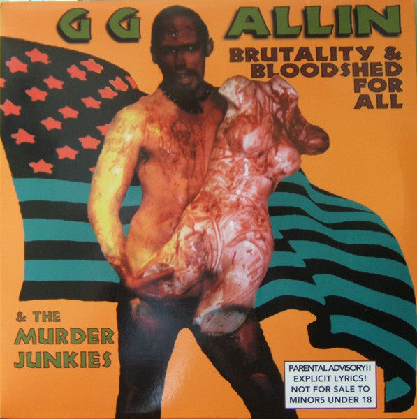 GG ALLIN & THE MURDER JUNKIES - Brutality & Bloodshed For All (LP / New)