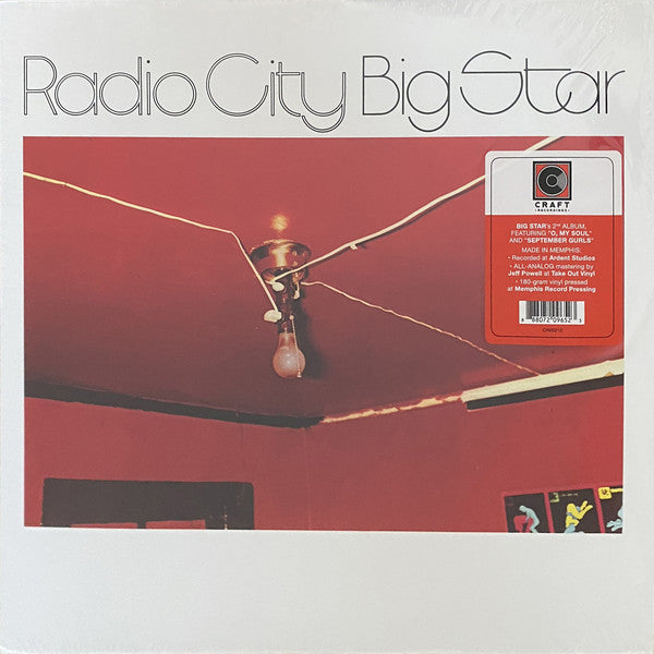 BIG STAR (ビッグ・スター)  - Radio City (US Ltd.Reissue 180g LP/New CR-00212)