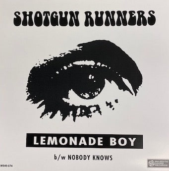 "SHOTGUN RUNNERS  (ショットガン・ランナーズ)  - LEMONADE BOY / NOBODY KNOWS (New 7"")"