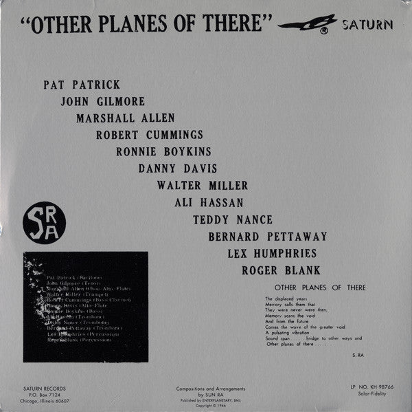 SUN RA & His Solar Arkestra (サン・ラ & ヒズ・ソーラー・アーケストラ)  - Other Planes Of There (US Ltd.Reissue LP/New)