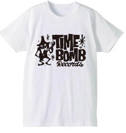 TIME BOMB RECORDS - Time Bomb Records Logo T-Shirt(White)
