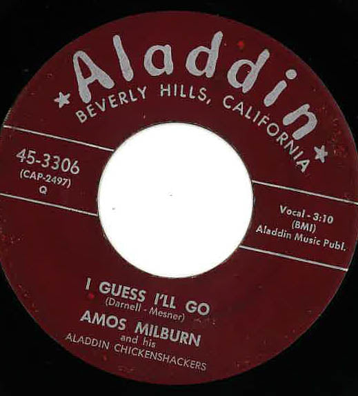AMOS MILBURN - House Party / I Guess I'll Go (Orig.)