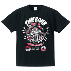 TIME BOMB RECORDS (タイムボム レコード)  - 30th Anniversary T-SHIRT (New)