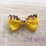 Banana Split Hair Bow