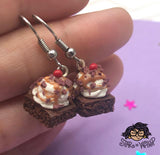 Brownie Sundae with Sprinkles or Chocolate Chunks Dangle Earrings