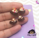 Brownie Sundae with Sprinkles or Chocolate Chunks Post Earrings