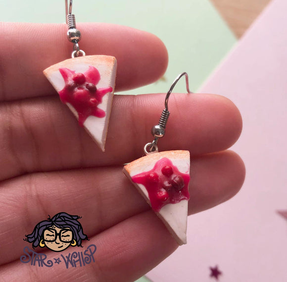 Cherry Cheesecake Dangle Earrings