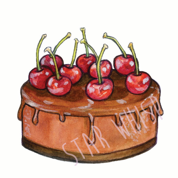Chocolate Cake Mini Print