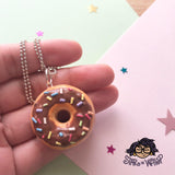 Sprinkle Donut Necklace