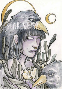 Crow Witch 5 x 7 Art Print