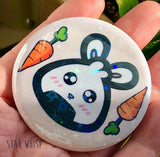 Holographic Bunny Button