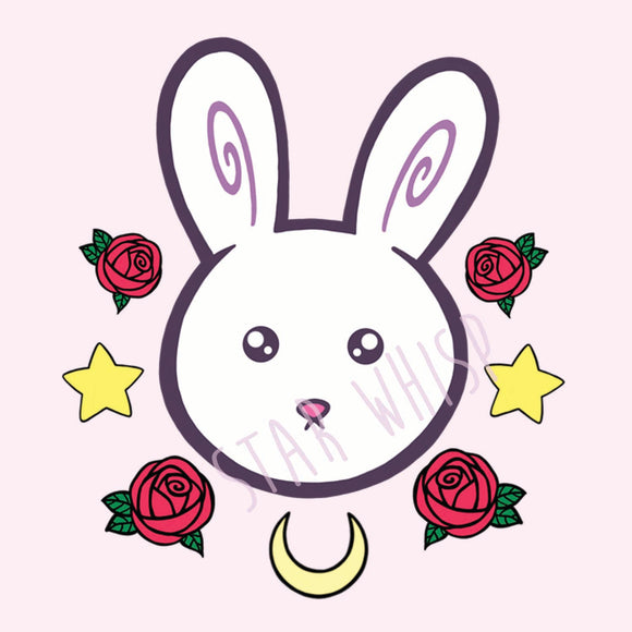 Magical Girl Bunny Mini Print
