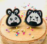 Kitty Onigiri Wooden Pin
