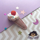 Strawberry Dream Fabric Hair Clip, Hair Bow