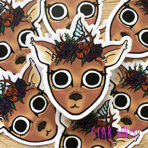 Fawn Unicorn Vinyl Sticker