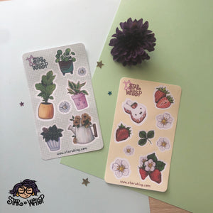 Spring Sticker Sheets (Set of 2), Planner Stickers, Journal Stickers