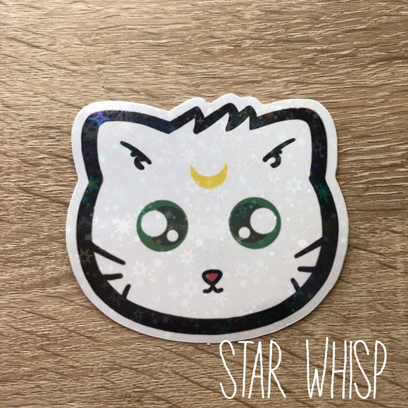 Artemis Cat Holo Sticker