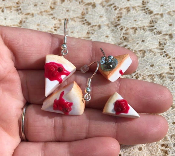 Cherry Cheesecake Earrings *PREORDER*