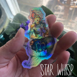 Warrior Mer-babe Rainbow Holo Sticker