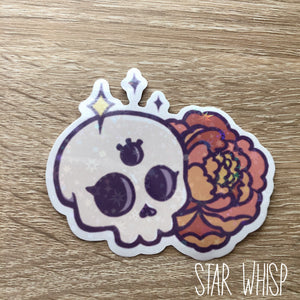 All Seeing Skull Holo Sticker