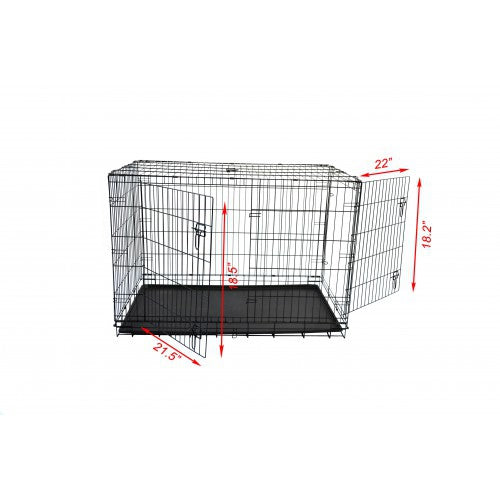 "019 Hot Selling Wholesale Cheap Metal Iron Welding Wire Mesh Pet Dog Kennels Cage For Sale 36""Dog Crate - Paws & Play"