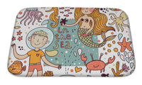 Bath Mat, Funny Color Pattern With Sea Live - Paws & Play