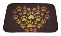 Bath Mat, Heart Of The Dog Traces - Paws & Play