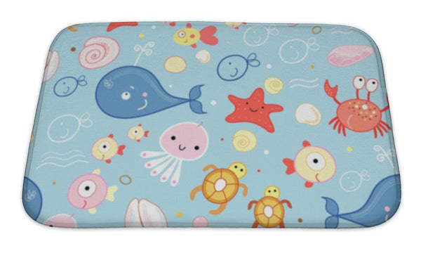 Bath Mat, Of Marine Life - Paws & Play