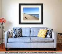 Framed Print, Bordeer Collie On Beach - Paws & Play