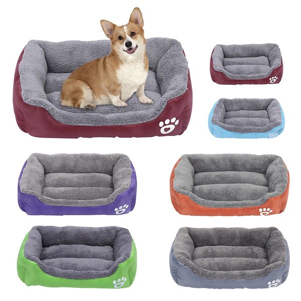 Plush Dog Bed Mat - Paws & Play