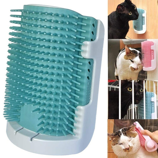 Catnip Self Wall Corner Grooming Comb - Paws & Play