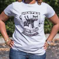 Schrodinger's Cat Wanted Dead And Alive T-Shirt (Ladies) - Paws & Play